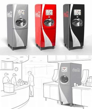 The new Coke vending machines in a rendering ... will this dream ever become true?
