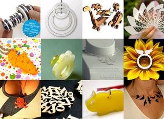 Products by users produced via the Ponoko manufactruing network