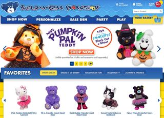 Build a bear homepage