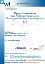 Public Open Innovation Lecture in Aachen 4 Dez 2007