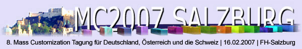 The GERMAN mass customization event 2007